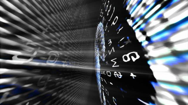 abstract digital data forms (loop). - attrezzatura informatica video stock e b–roll