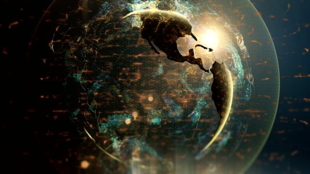 abstract digital globe - blockchain stock videos & royalty-free footage
