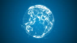 Abstract Digital Globe