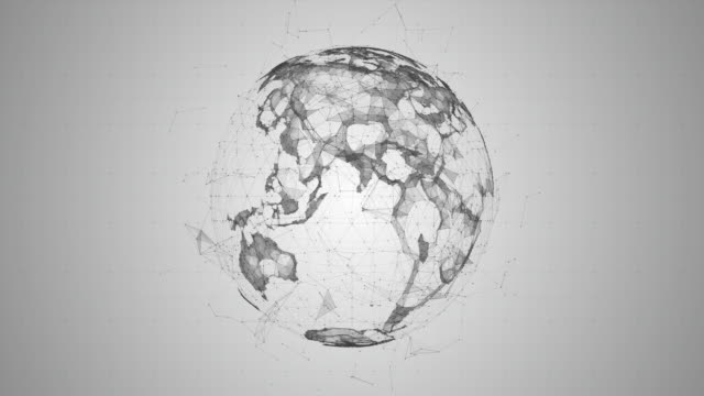 abstract digital globe - globe navigational equipment stock videos and b-roll footage
