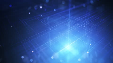 abstract digital grid - loopable background animation - blue - digitally generated image stock videos & royalty-free footage