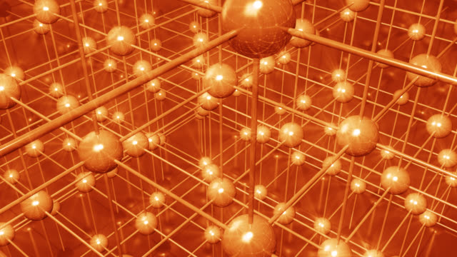 抽象的なデジタルネットワーク - 原子点の映像素材/bロール