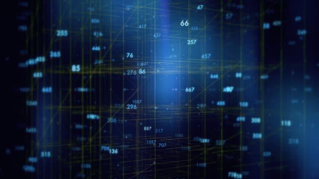 abstrakte digitale zahlen im draht gitter hintergrund - unendlichkeit stock-videos und b-roll-filmmaterial