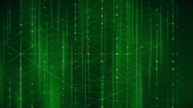 abstract digital numbers in wire grid background