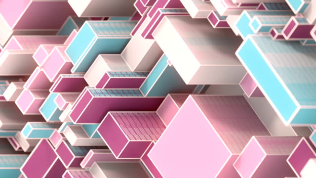 abstract digital seamless loop animation pattern of randomly moving geometrical shapes. 3d rendering. modern minimal design element. hd resolution - design element stock videos & royalty-free footage