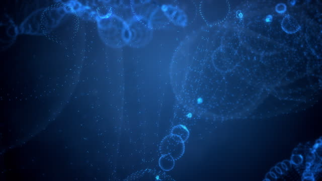 abstract dna string on blue background - biochemistry stock videos & royalty-free footage