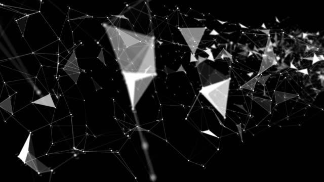 Abstracte Dots en verbindingen achtergrond in Cyber-ruimte, technologie Concept