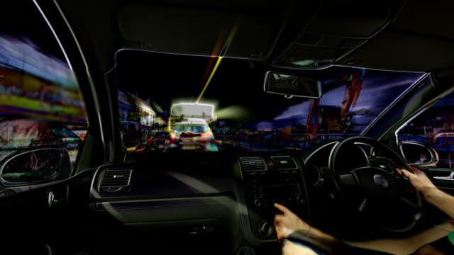 vídeos y material grabado en eventos de stock de abstracto bucle en automóvil. alta definición - taxista