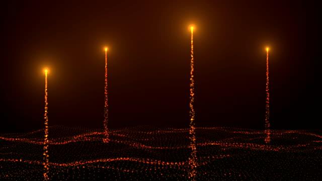 vídeos y material grabado en eventos de stock de partículas de polvo abstractas de fondo con animación de partículas voladoras y parpadeantes como bokeh de la luz. animación de bucle sin costuras. animación de nieve de las burbujas de polvo y burbujas de polvo giratorias - filtración de luz