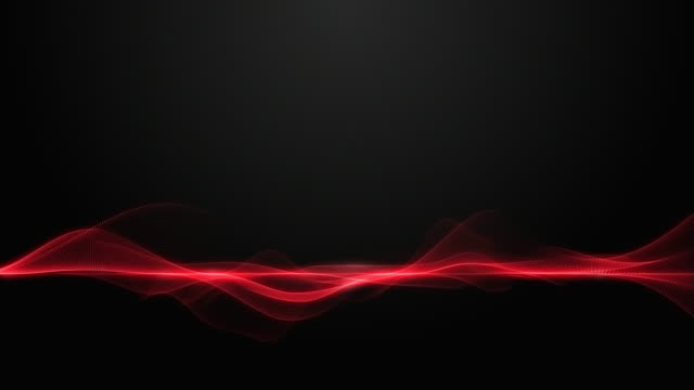 abstract dynamic wave form smooth moving on dark background - red stock videos & royalty-free footage