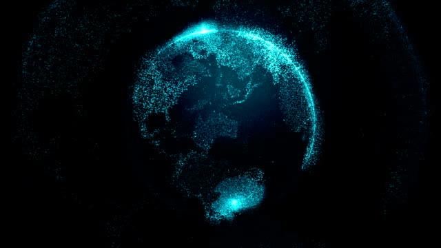 vídeos y material grabado en eventos de stock de abstract a tierra - mapa mundial