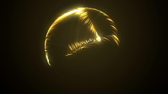 abstrakt - energi boll - atom cell - dna - multi färgade oändlig loop - kula geometriformad bildbanksvideor och videomaterial från bakom kulisserna