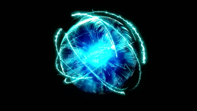 vídeos de stock, filmes e b-roll de abstrato - energia bola - atom celular - dna - multi colorido loop infinito - plasma matéria