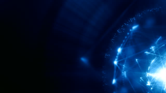 abstract energy structure (blue, copy space) - loop - digitally generated image stock videos & royalty-free footage