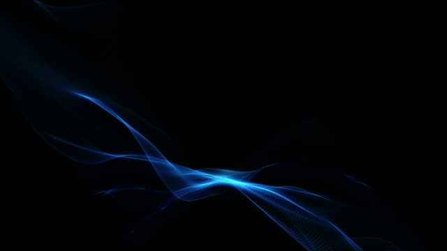 Abstract energy waves on dark background