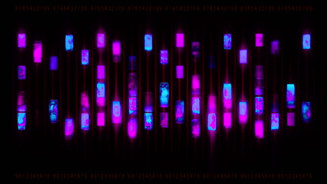 abstract equalizer on the black background - neon coloured stock videos & royalty-free footage