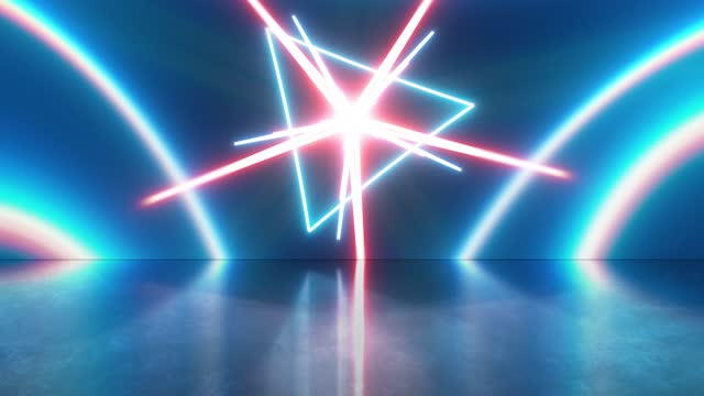 abstract fiber optic glowing triangle shapes stage and background spinning loopable, beatiful vj, dj light show,   the concepts of vortex, tunnel, game, internet, data, party, nightclub, fashion glow, virtual reality, lazer, lighting show - game show stock videos & royalty-free footage