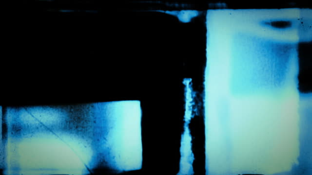 Abstract film leader forms flicker and streak.