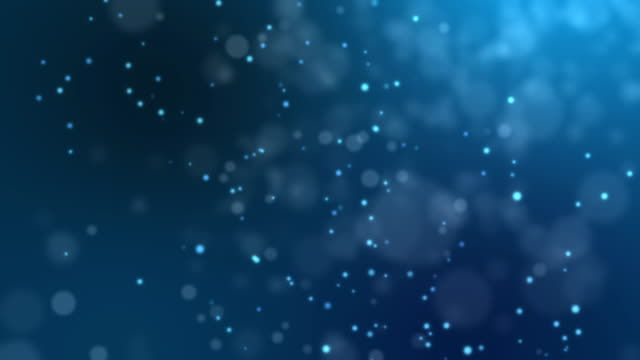 abstract fire bokeh on blue background - particle stock videos and b-roll footage