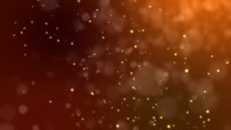 Abstract fire bokeh on orange background