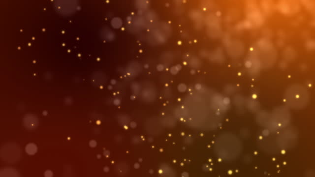 abstract fire bokeh on orange background - defocussed stock videos & royalty-free footage