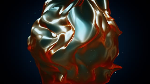 abstract flowing shape animation - changing form stock videos & royalty-free footage