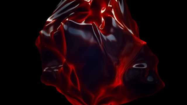 abstract flowing shape animation - amber stock videos & royalty-free footage