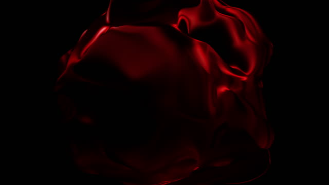 abstract flowing shape animation - saturated colour stock videos & royalty-free footage