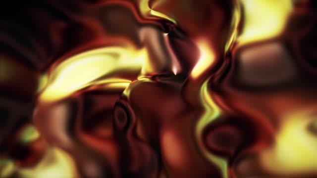 vídeos de stock, filmes e b-roll de resumo forma fluindo loop fundos de animação - mercúrio metal