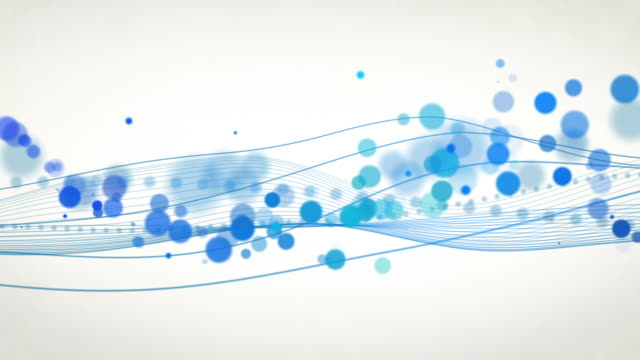 Abstract Flowing Waves Background Loop - Blue (HD)