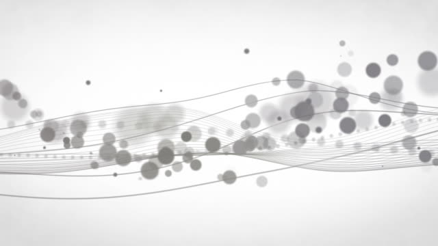 Abstract Flowing Waves Background Loop - Grey (HD)