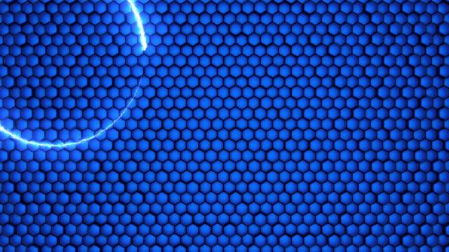 vidéos et rushes de cercle de vol abstrait - verre optique