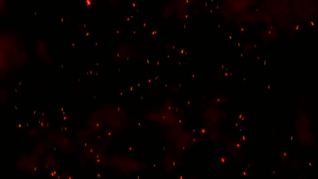 abstract flying spark particles background - sparks stock videos & royalty-free footage