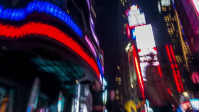 Sfondo di filmati di movimento persone a Times Piazza