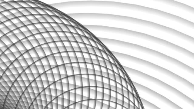 vídeos de stock, filmes e b-roll de fundo fractal abstrato - estrutura entrelaçada de metal