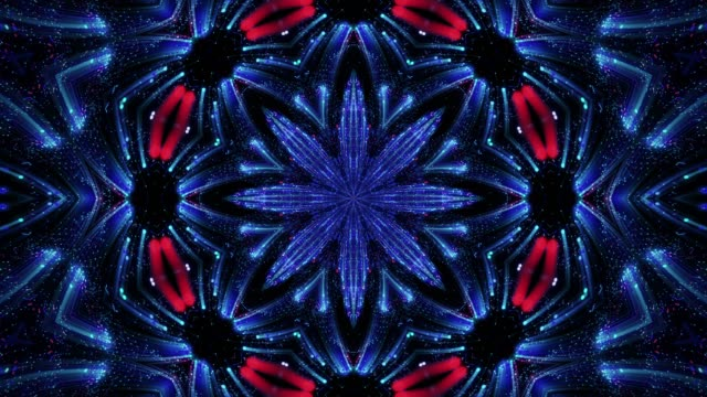 abstract fractal flower, abstract kaleidoscope background, mandala ornament flower. - mandala stock videos & royalty-free footage