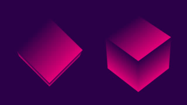 abstract futuristic cubes rotating - square stock videos & royalty-free footage