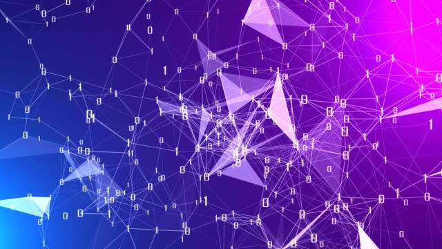 vídeos de stock, filmes e b-roll de abstrato base de conexões de dados futurista, conceito de tecnologia - elemento de desenho
