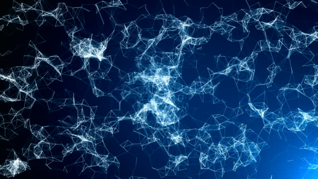 abstract futuristic data connections background, technology concept - molecule stock videos and b-roll footage