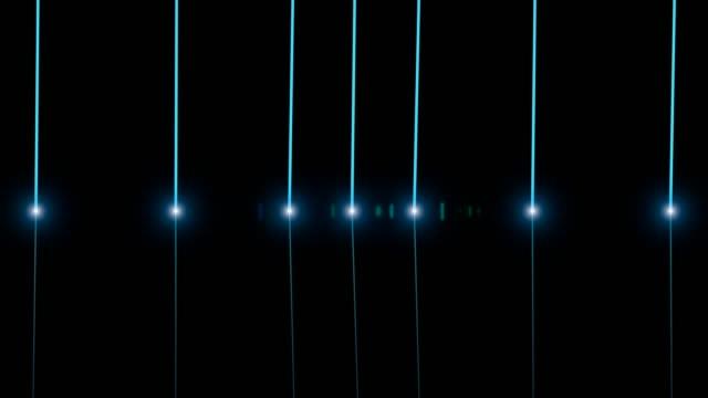 abstrakte futuristische deep learning hintergrund mit blauen lichtern und linien - maschinelles lernen stock-videos und b-roll-filmmaterial