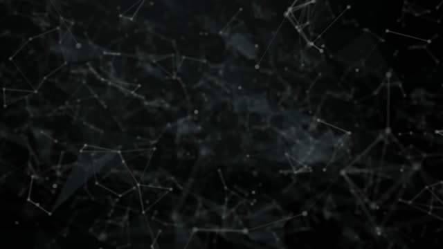 abstract futuristic technology background with lines and dots - constellation stock videos & royalty-free footage
