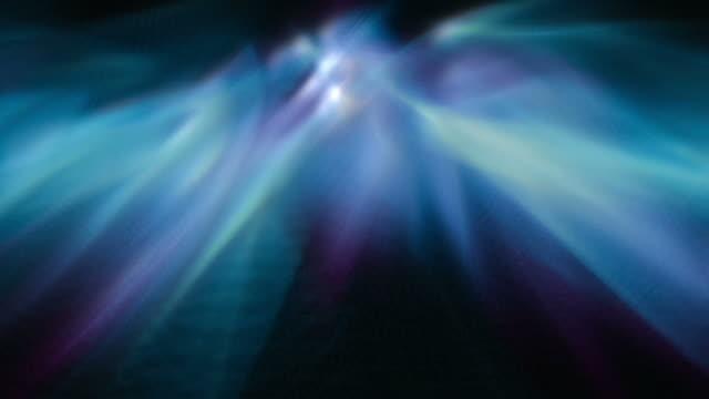 abstract gaseous light forms shine - フラクタル点の映像素材/bロール