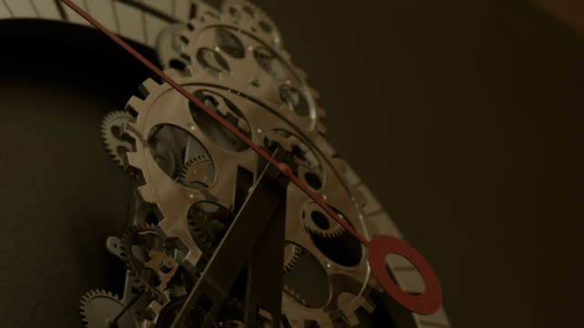 Abstract Gear Wall Clock Spinning