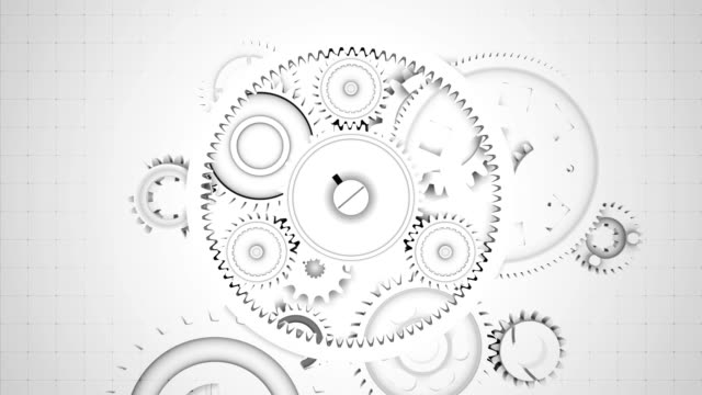 abstract gears background - seamless loopable - wheel stock videos & royalty-free footage
