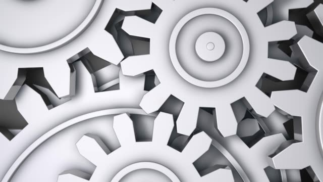abstract gears background - seamless loopable - cog stock videos and b-roll footage