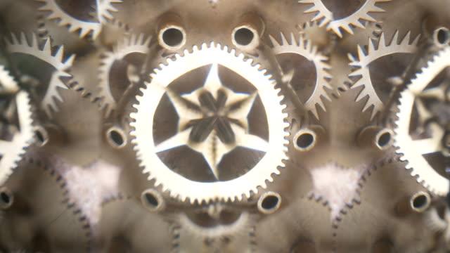 vídeos de stock e filmes b-roll de abstract gears - dente de engrenagem