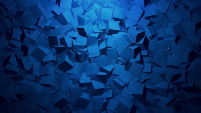 抽象的な幾何学の背景。4 k素材 - 立方体点の映像素材/bロール