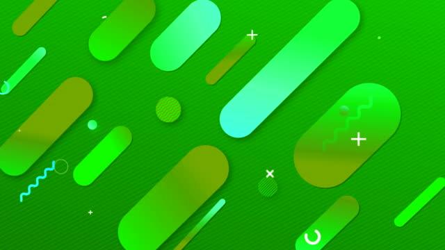 4k抽象幾何学の背景。ダイナミック シェイプコンポジション - 滑らか点の映像素材/bロール