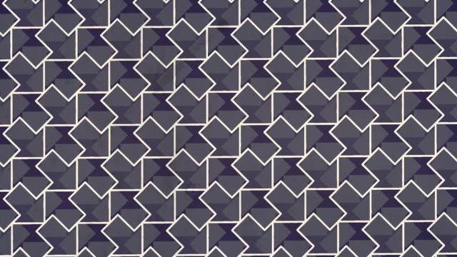 abstrakter geometrischer hintergrund von sich drehenden weißen konturpfeilen. optische illusion. digitale nahtlose loop-animation. 3d-rendering. hd-auflösung - arrow symbol stock-videos und b-roll-filmmaterial