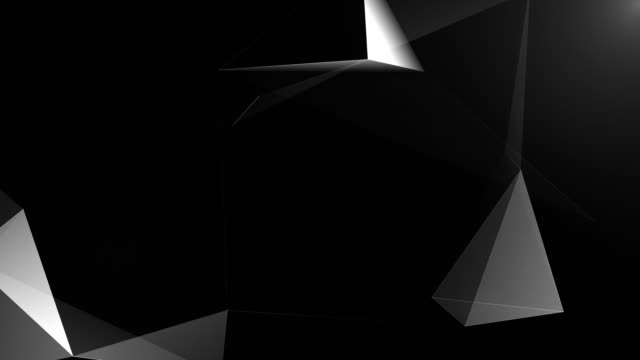 abstract geometric background seamless loop in black and white - grayscale stock videos and b-roll footage